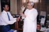 Master Micky Greeting Mr Nabin Patnaik - Chief Minister of Orissa